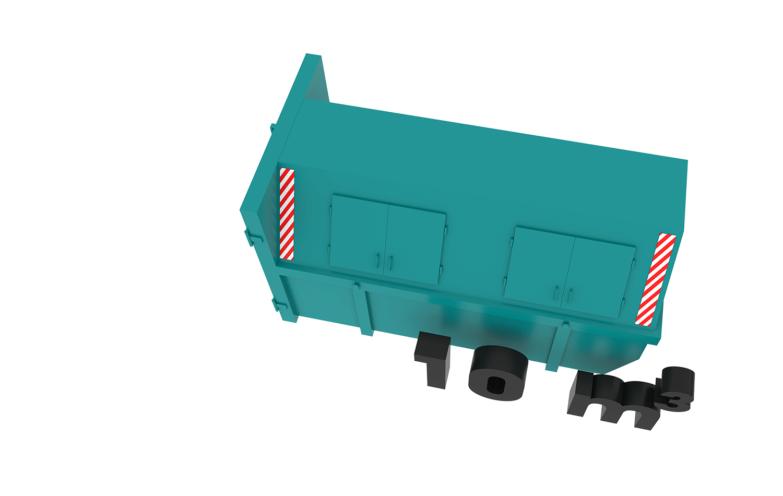 10m3 container bek & verburg voor: BSA, C-hout, dakafval, groenafval, grofvuil, grond, houtafval en puinafval