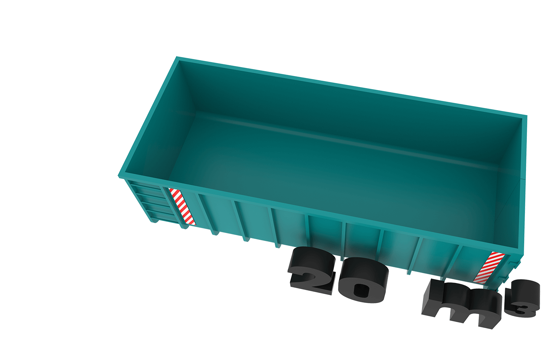 20m3 container bek & verburg voor: BSA, C-hout, groenafval, grofvuil en houtafval