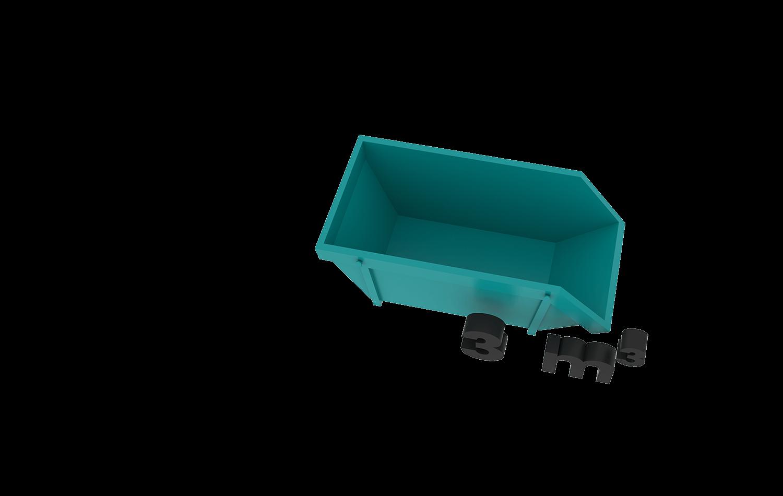 3m3 container bek & verburg voor: BSA, C-hout, dakafval, groenafval, grofvuil, grond, houtafval en puinafval