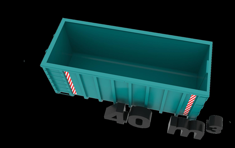 40m3 container bek & verburg voor: BSA, C-hout, groenafval, grofvuil en houtafval