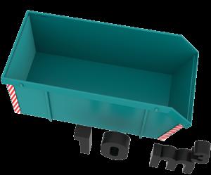 10m3 open container van Bek & Verburg